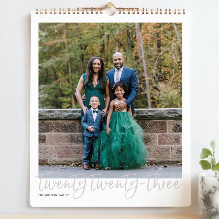 """""""Brushed"""" - Modern Photo Calendars in Chalkboard by JoAnn Jinks."""