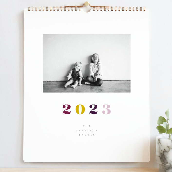 """""""Vogue"""" - Modern Photo Calendars in Mixed Berries by Up Up Creative."""