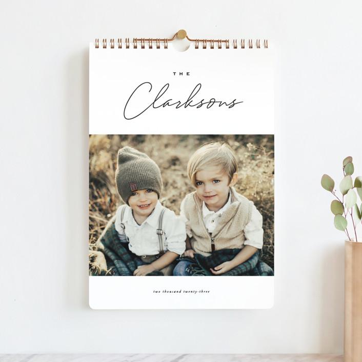 """Reminisce"" - Modern Photo Calendars in Onyx by Oscar and Emma - Karly Depew."