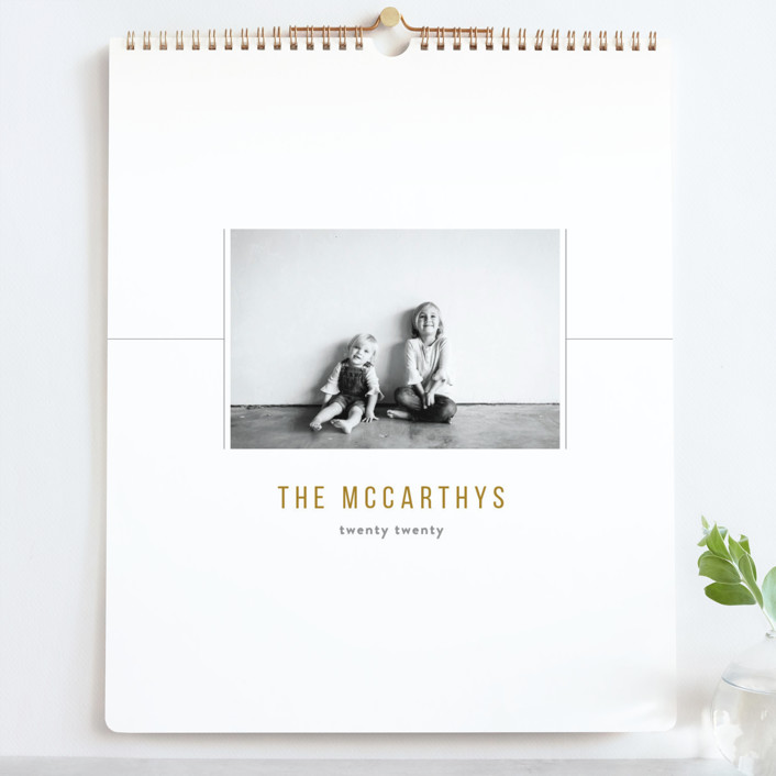 """""""Slick Grand"""" - Modern Photo Calendars in Golden by Up Up Creative."""