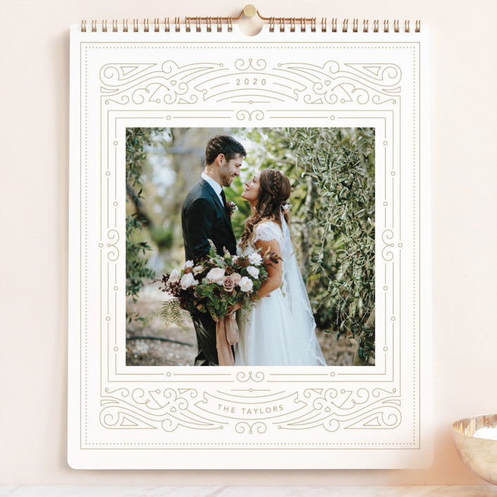 """Fancy Frame Grand"" - Photo Calendars in Nutmeg by Kristen Smith."