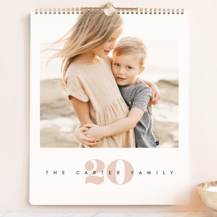 """""""Yearly Grand"""" - Photo Calendars in Blush by Creo Study."""