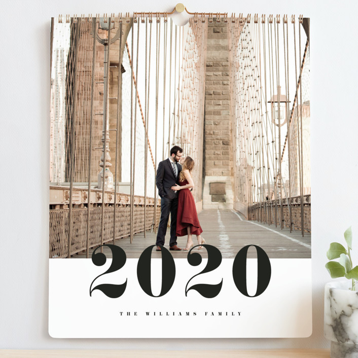 """Bold Number Grand"" - Photo Calendars in Classic by Pixel and Hank."