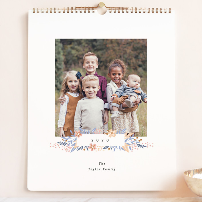 """""""Simple Floral Month Grand"""" - Photo Calendars in Orchid by Alethea and Ruth."""