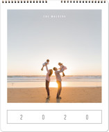 This is a yellow photo calendar by Playground Prints called Modern Watercolor Grand printing on premium calendar paper in grand.
