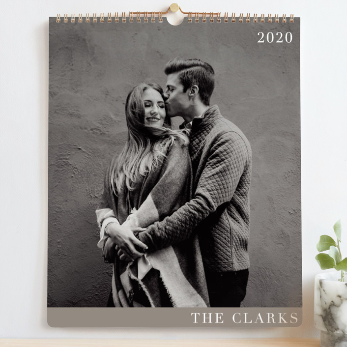 """""""Contemporary Lines Grand"""" - Preppy Photo Calendars in Slate by Eric Clegg."""