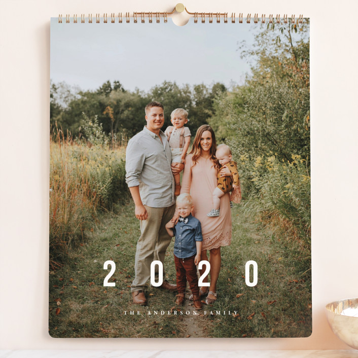 """New Adventures Grand"" - Photo Calendars in Ivory by Playground Prints."
