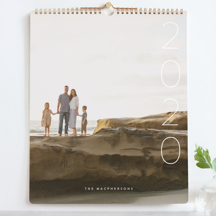 """Simplify Grand"" - Photo Calendars in Snow by Guess What Design Studio."