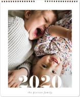 This is a green photo calendar by Erin Deegan called Cropped Serif Grand printing on premium calendar paper.