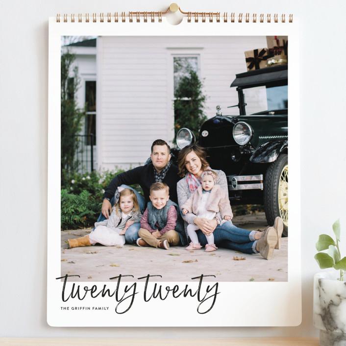 """Brushed Grand"" - Modern Photo Calendars in Chalkboard by JoAnn Jinks."