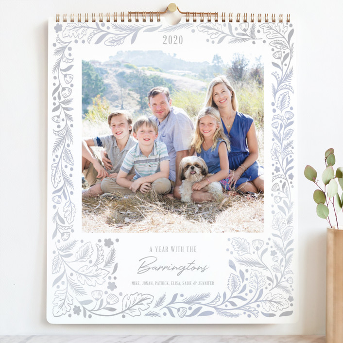 """""""Delicate Frames Grand"""" - Photo Calendars in Mist by Paper Raven Co.."""