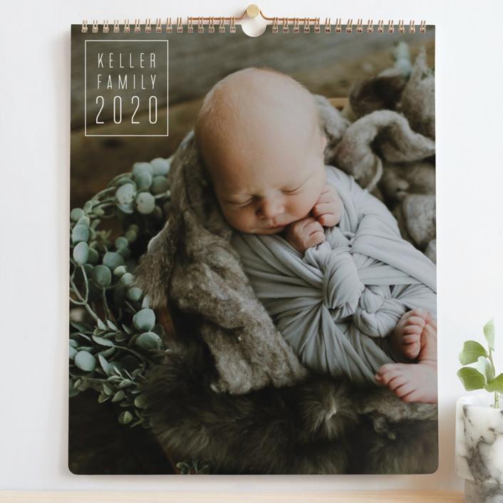 """Thin Line Grand"" - Modern Photo Calendars in Silk by Kacey Kendrick Wagner."