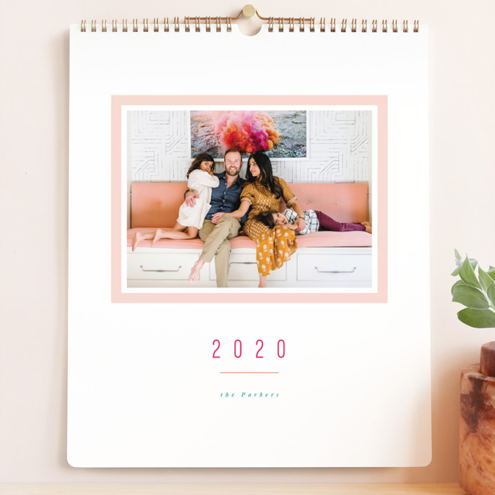 """Colorful Minimalist Grand"" - Preppy Photo Calendars in Blush by Playground Prints."