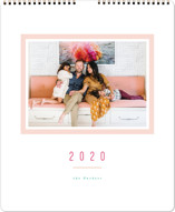 This is a pink photo calendar by Playground Prints called Colorful Minimalist Grand printing on premium calendar paper.