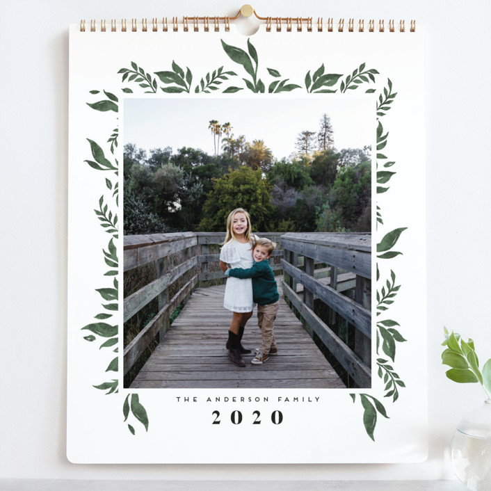 """Nature Border Grand"" - Photo Calendars in Latte by Grae Sales."