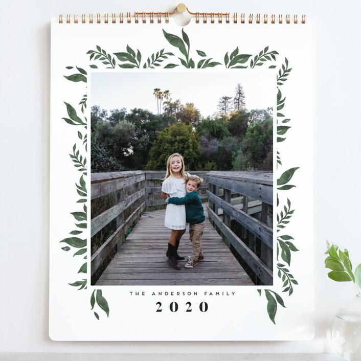 """Nature Border Grand"" - Photo Calendars in Latte by Grae Sales."