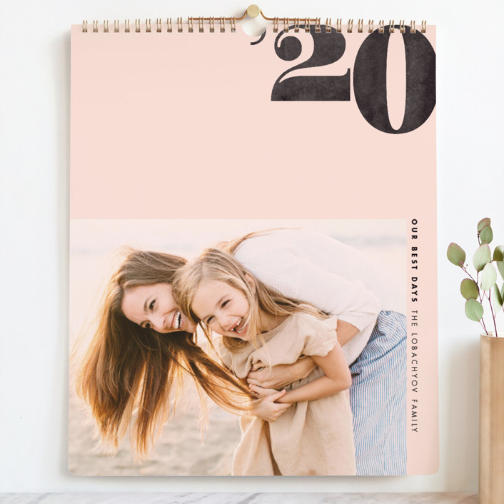 """Calendar Year Grand"" - Modern Photo Calendars in Blush by Jennifer Lew."