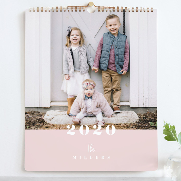 """Hazel Grand"" - Preppy Photo Calendars in Blush by Carrie ONeal."