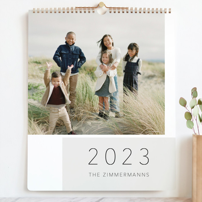 """""""Kid Quotes"""" - Preppy Photo Calendars in Slate by Juliana Zimmermann."""