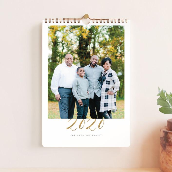 """Elegant Golden Year Standard"" - Modern, Simple Photo Calendars in Gold by Erin Deegan."