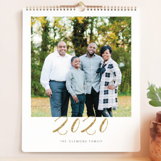 Elegant Golden Year Grand Calendars