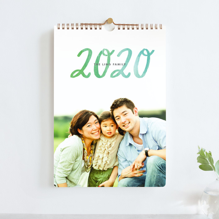 """""""Painted Script Standard"""" - Photo Calendars in teal by Alethea and Ruth."""