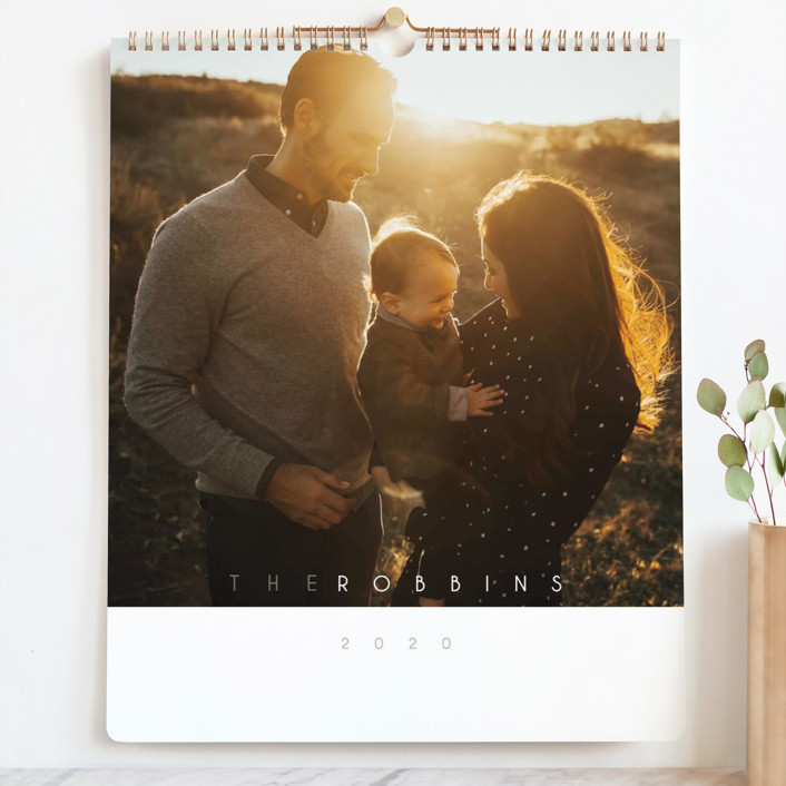 """""""Monthly Focus Grand"""" - Modern Photo Calendars in silver by Kaydi Bishop."""