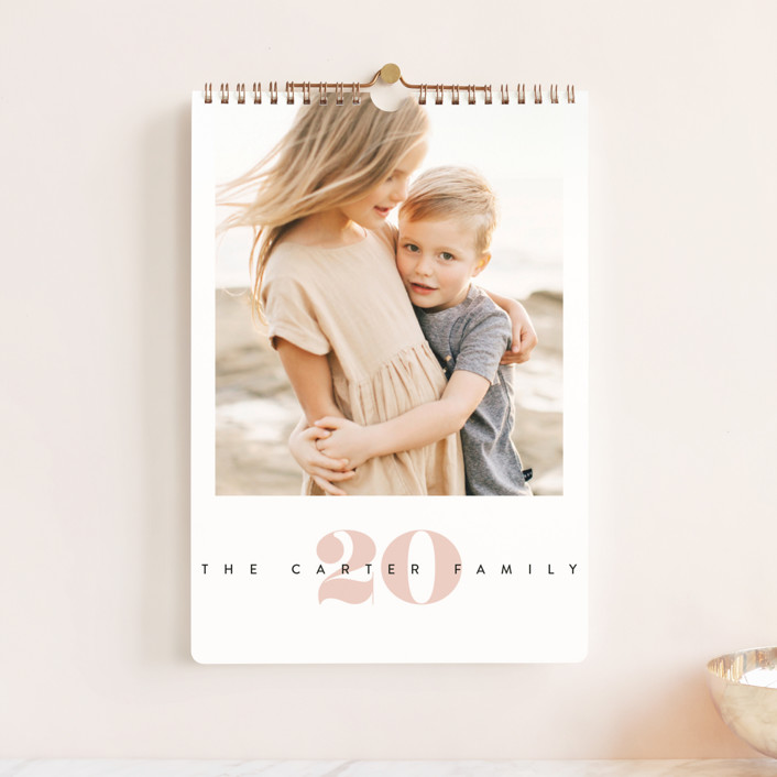 """""""Yearly Standard"""" - Photo Calendars in Blush by Creo Study."""