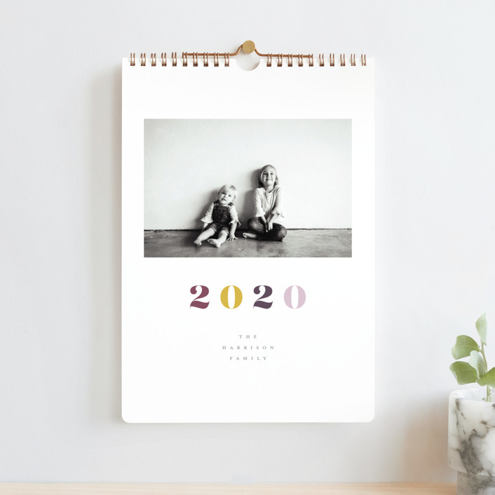 """""""Vogue Standard"""" - Modern Photo Calendars in Mixed Berries by Up Up Creative."""