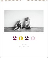 This is a purple photo calendar by Up Up Creative called Vogue Standard printing on premium calendar paper in standard.
