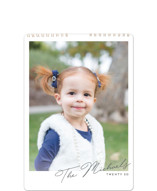 This is a grey photo calendar by Kaydi Bishop called Simply Across Standard printing on premium calendar paper in standard.