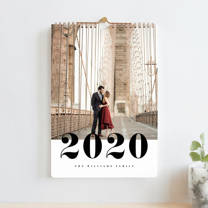"""""""Bold Number Standard"""" - Photo Calendars in Classic by Pixel and Hank."""