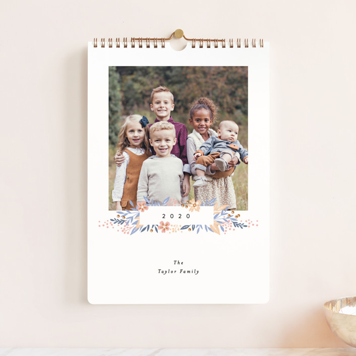 """""""Simple Floral Month Standard"""" - Photo Calendars in Orchid by Alethea and Ruth."""
