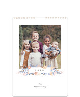This is a purple photo calendar by Alethea and Ruth called Simple Floral Month Standard printing on premium calendar paper in standard.