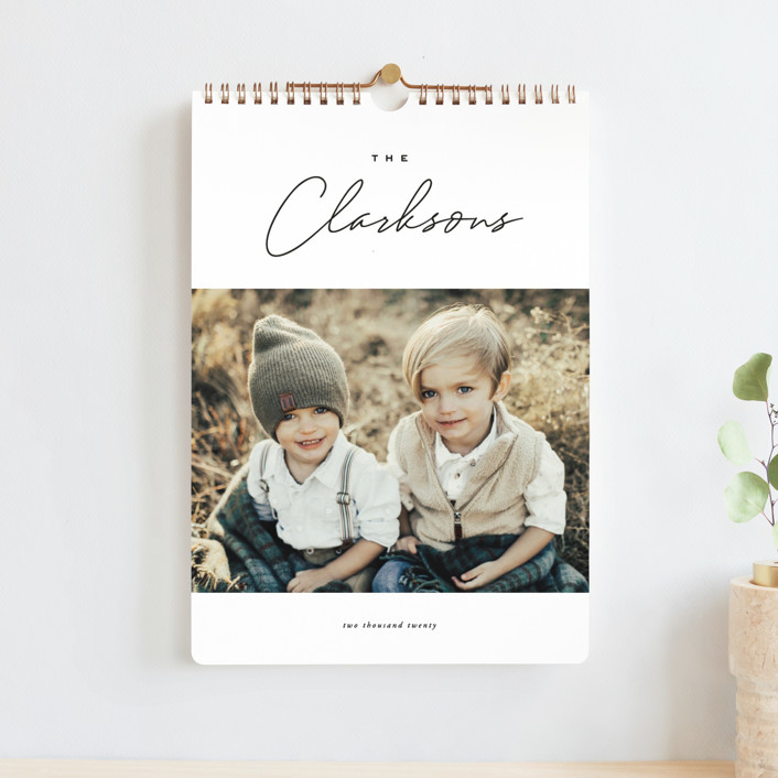 """Reminisce Standard"" - Modern Photo Calendars in Onyx by Oscar & Emma."
