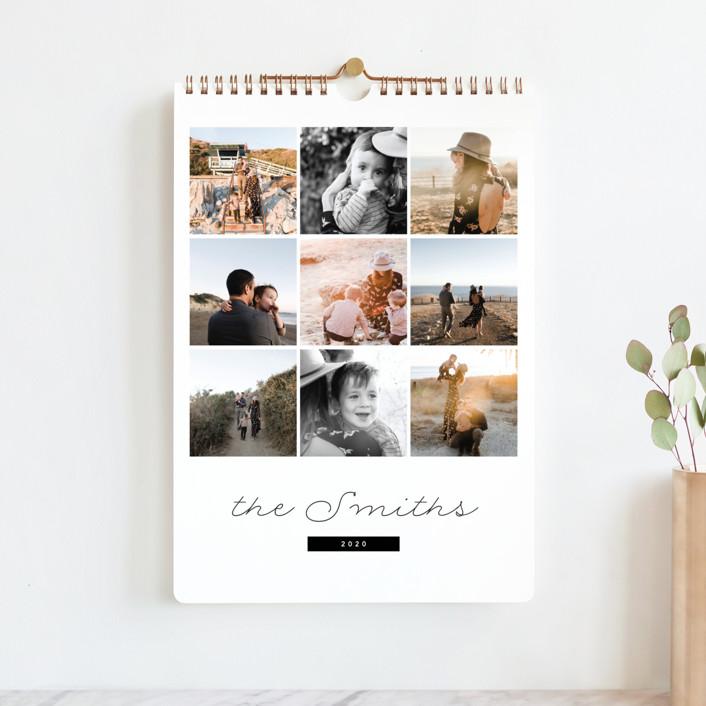 """Minimal Grid Standard"" - Modern Photo Calendars in Onyx by Kate Ahn."