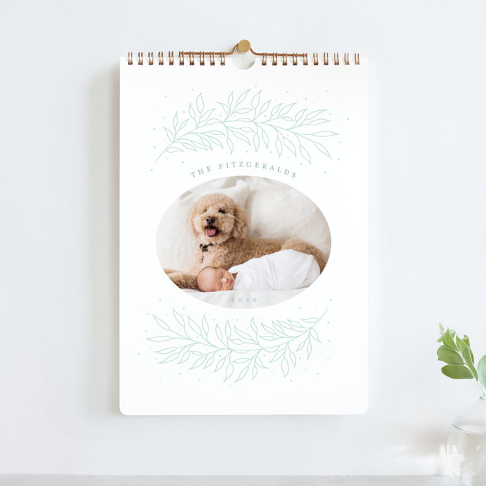 """""""Ethereal Wreath Standard"""" - Photo Calendars in Mint by Jackie Crawford."""