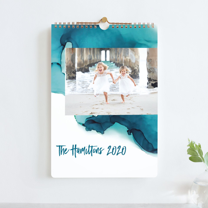 """Tides Standard"" - Photo Calendars in Turquoise by Erin Deegan."