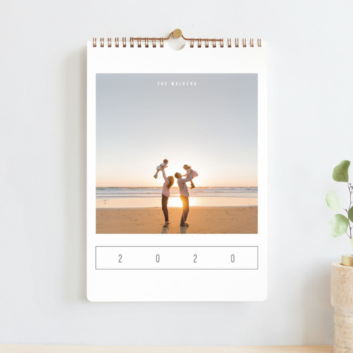 """Modern Watercolor Standard"" - Modern Photo Calendars in Sea by Playground Prints."