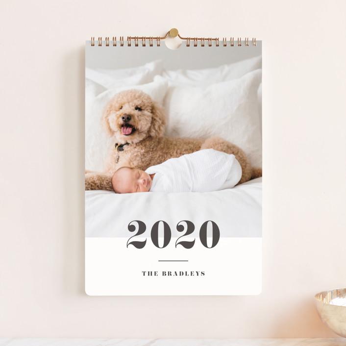 """Bold Classic Standard"" - Photo Calendars in Slate by Shirley Lin Schneider."