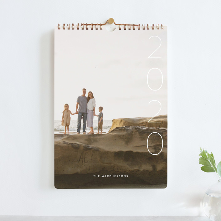 """Simplify Standard"" - Photo Calendars in Snow by Guess What Design Studio."
