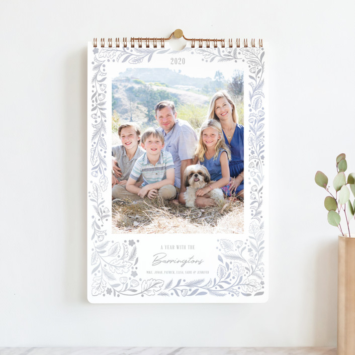 """Delicate Frames Standard"" - Photo Calendars in Mist by Paper Raven Co.."