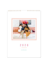 This is a pink photo calendar by Playground Prints called Colorful Minimalist Standard printing on premium calendar paper.