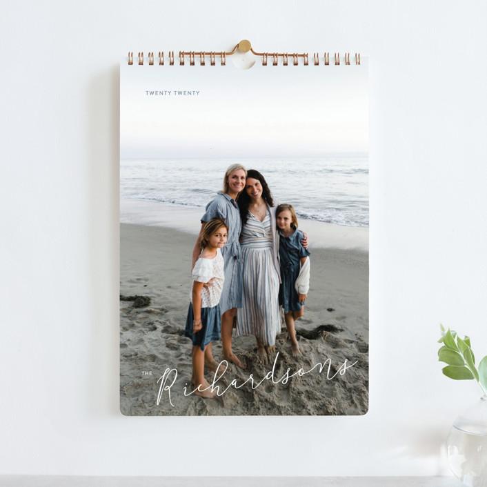 """Montauk Standard"" - Modern Photo Calendars in Windy White by Kate Ross."