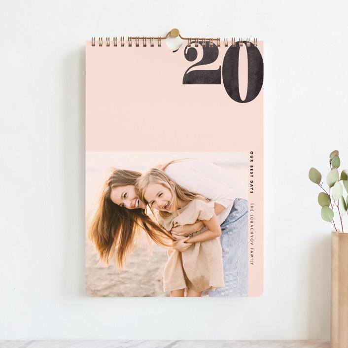 """Calendar Year Standard"" - Modern Photo Calendars in Blush by Jennifer Lew."