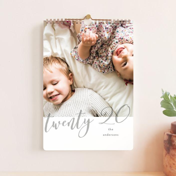 """Opacity Standard"" - Modern Photo Calendars in Raspberry by Kristel Torralba."