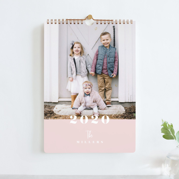 """Hazel Standard"" - Photo Calendars in Blush by Carrie ONeal."