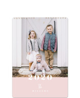 This is a pink photo calendar by Carrie ONeal called Hazel Standard printing on premium calendar paper.