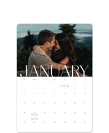 This is a white photo calendar by Creo Study called Serenity printing on premium calendar paper in standard.
