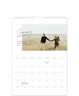 This is a black photo calendar by Creo Study called modern note printing on premium calendar paper in standard.